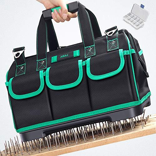 Preisvergleich Produktbild AIRAJ16 Zoll Werkzeugtasche Aufbewahrungstasche,  wasserdichte Werkzeugtasche,  verstellbarer Schultergurt,  Haushaltswerkzeugtasche zur Aufbewahrung von Elektrowerkzeugen und Handwerkzeugen