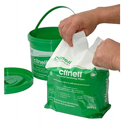 Clinell EA563-R Refill for Clinell Universal Wipe (Pack of 225) from Clinell