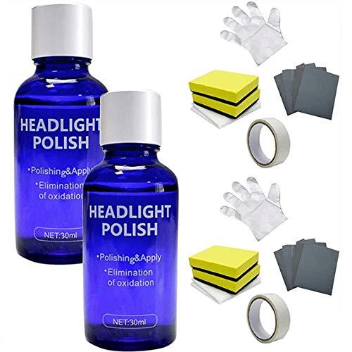 WAQIA Headlight Polish Liquid Cars Restoration Fluid Durable Car Repair 30ml Car Headlight Restoration Repair Coating Kit for Car Headlight Taillight (2)