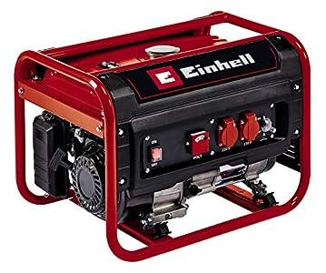 Einhell Generador eléctrico (gasolina) TC-PG 25/E5 (máx. 2400 W, motor de 4 tiempos con bajas emisiones, 2 tomas de 230 V, 15 L tanque, incl. voltímetro, función AVR)
