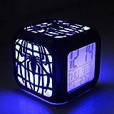XLBAXLJ Spiderman 3D Petit réveil, Lampe de Nuit LED LED Affichage Gravure...