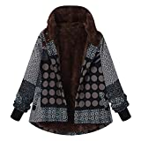 Sweatshirt Polaire Confortable Outwear Sweatshirts Capuche Veste Blouson Manteaux Tops Fleurie éPaisse Hiver Chaud Manteau (Noir, XXL(EU=48))