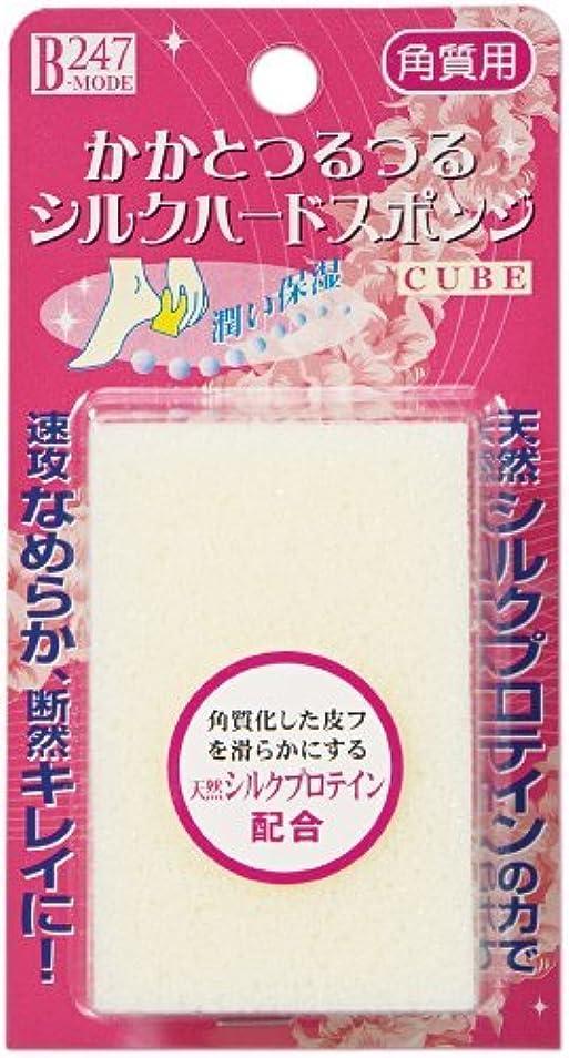 しっとりメロディアス助手ミノウラ かかとつるつる シルクハードスポンジ キューブ 1個入 × 5個セット