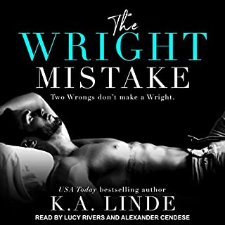 The Wright Mistake     Wright Series, Book 3              Written by:                                                                                                                                 K.A. Linde                               Narrated by:                                                                                                                                 Alexander Cendese,                                                                                        Lucy Rivers                      Length: 8 hrs and 25 mins     Not rated yet     Overall 0.0