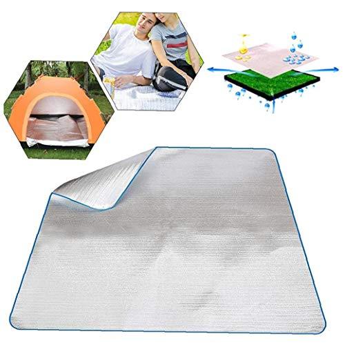 Colchón de aluminio impermeable de EVA para dormir, manta de aluminio para acampar al aire libre, senderismo, viajes, picnic, productos para el hogar