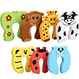 7Pcs Finger Pinch Guard, HNYYZL Cartoon Animal Door Stop Soft Foam Cushion Ba
