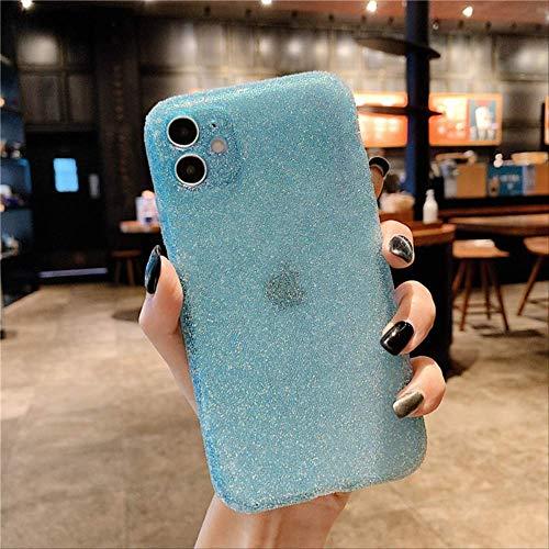 Estuche rígido de Lujo Bling Crystal para teléfono para iPhone 12 12Mini 11 Pro XS MAX SE X XR 7 8 Plus contraportada de Diamantes Brillantes con Piedras Preciosas para iPhone 7 Azul Cielo