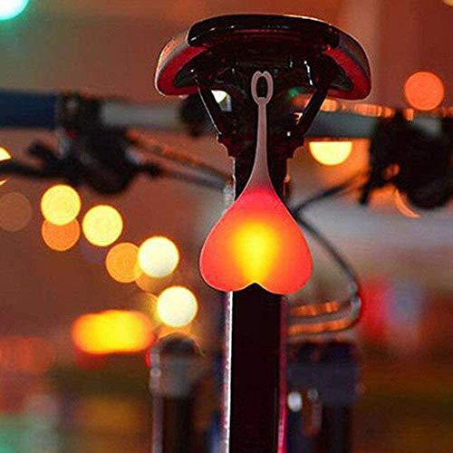 Ciclismo coda luce a forma di cuore luce di avvertimento impermeabile bici luci palla uovo lampada LED posteriore palla luce notturna avviso led