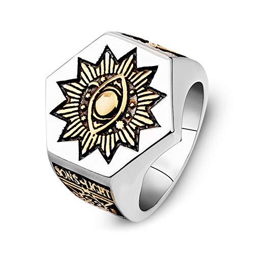 Classic Men'S Fashion Punk Masonic Totem Jewelry Cobra Hex Anillo Masónico Adecuado...