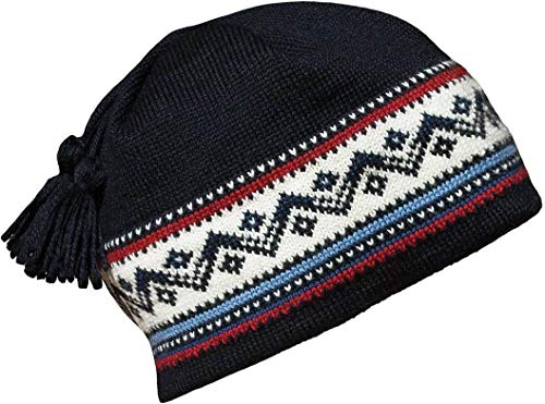 Dale of Norway Vail Hat Hat, Navy/Red/Off white/Blue, One size