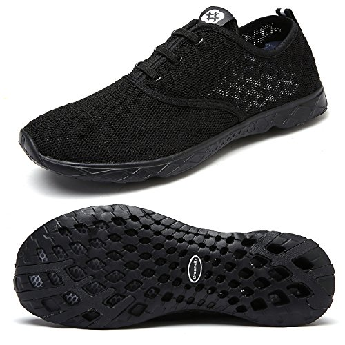 Dreamcity Men's water shoes athletic sport Lightweight walking shoes Black 12 D M  US