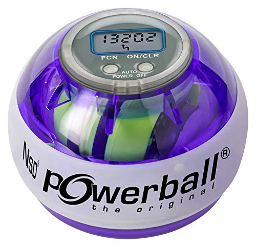 Powerball Kernpower Multi-Light AutoStart Max gyroskopischer Hand- und Armtrainer inklusive Autostart-Mechanik zum Aufziehen und mit digitalem Drehzahlmesser