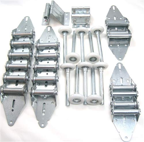 New Garage Door Hardware Kit - Heavy Duty - 12x9 or 10x9 - Rollers, Hinges, Brackets