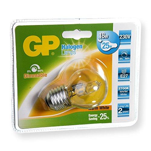 GP LIGHTING 047506-HLME1 - Lámpara (Mini Globe, E27, Blanco cálido, Borrar, D, HG (Mercurio))