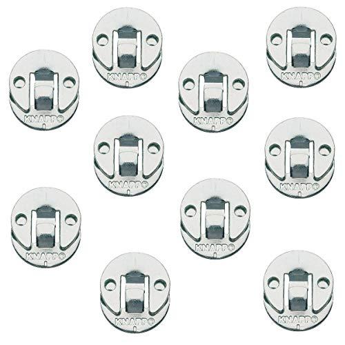Gedotec Blenden-Verbinder Möbelverbinder zum Schrauben Verbindungsbeschlag aus Metall | DUO 30 ml | Einhänge-Verbinder für Treppen & Verkleidungen uvm. | 10 Paar - Einhängebeschlag für Möbel & Betten