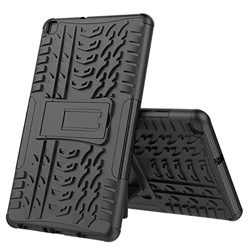 Nieuwe Tablet Case voor Samsung Tab ONE 8.0 inch 2019 T290 T295 T297 Back Cover 2 in 1 Silicon zachte harde Stand Armor Heavy Rugged case Zwart