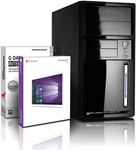 shinobee Flüster-SSD-PC Quad-Core Office/Multimedia PC Computer mit 3 Jahren Garantie! inkl. Win10 64 - Intel Quad Core 4x2.41 GHz, 8GB RAM, 128GB SSD, Intel HD, HDMI, VGA, MS Office, USB 3.0#6517