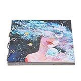 Atyhao Livre de Dessin, carnet de Croquis Papier carnet maître Guide de Dessin Anime étudiant Enfants Fournitures d'art pour Dessin écriture Peinture Croquis(Noir)