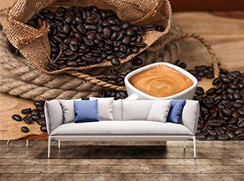 muurschildering behang Espresso en koffiebonen muur afdrukken muurschildering muursticker muur wandtapijt