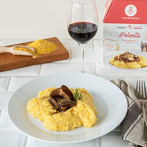 POLENTA CON SETAS My Cooking Box x3 Porciones - ¡Para una noche con amigos, una cena romántica o como una original idea de regalo! ¡Sorprended a tus queridos en Navidad!