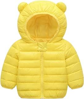 0-3 Months Baby Girl Boy Clothes,Chlidren Kids Boys Girl Winter Coats Jacket Zip Thick Ears Snow Hoodie Outwear