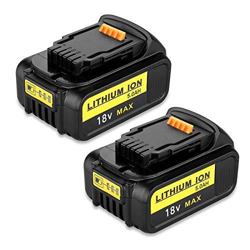 2PCS Dosctt 18V 5,0Ah Batería de repuesto para DeWalt DCB184 DCB200 DCB182 DCB180 DCB181 DCB182 DCB20