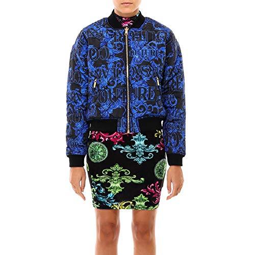 Versace Jeans Couture Damen Bomber Bomberjacke, Schwarz (899+208 Lz6), 38 (Herstellergröße: 44.0)
