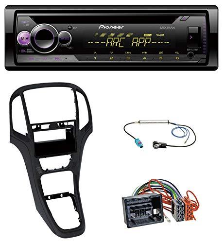 caraudio24 Pioneer DEH-S220UI 1DIN MP3 AUX USB CD Autoradio für Opel Astra J ab 2009 Perl schwarz