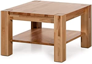 Alkove Solid Wood Coffee Table 70 x 70 x 45 cm Beech Heartwood