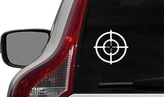 Target Sniper Version 1 Car Vinyl Sticker Decal Bumper Sticker for Auto Cars Trucks Windshield Custom Walls Windows Ipad Macbook Laptop and More (WHITE)
