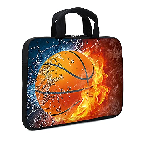 AMARY 11.6' 12' 12.1' 12.5 inch Laptop case Neoprene Notebook Carrying Pouch Chromebook Sleeve Ultrabook Case Tablet Cover Fit Apple MacBook Air HP DELL Lenovo Asus Samsung (Hot Basketball)