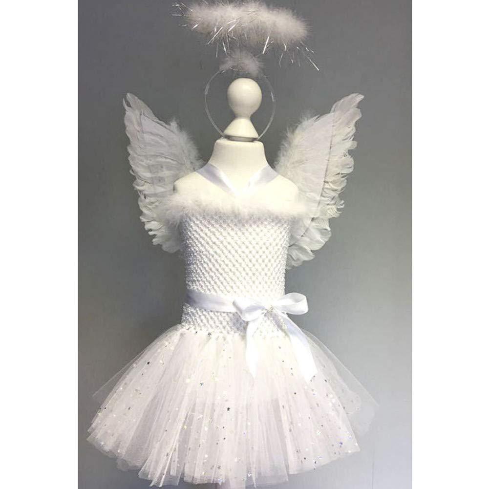 ZHANGSDJ Costumi Natalizi Traje De Navidad White Sparkle Girl ...
