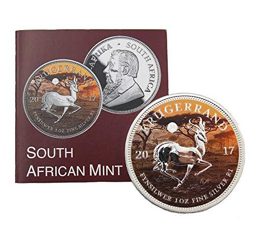 South African Mint Krügerrand in Farbe Südafrika 1 Rand Silber 2017