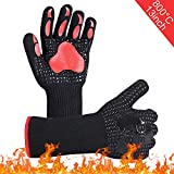 BBQ Oven Gloves,Heat Resistant Grill Gloves, Barbeque/Barbecue Gloves for Smoker,Oven Mitts...