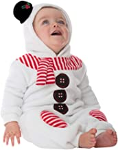 Toddler Baby Boys Girls Christmas Costume Jumpsuit Infant Snowman Fleece Romper Outfit Clothes