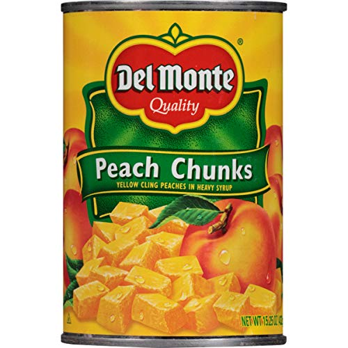 Del Monte Yellow Cling Peach Chunks in Heavy Syrup 1525 Ounce Pack of 12
