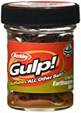 Berkley Gulp Extruded, Atrayente de Pesca, Tamaño T Win Pack 4 Pulgadas, Color Natural Brown