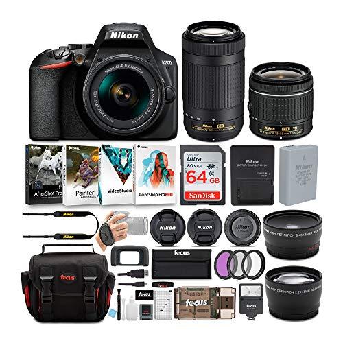 Nikon D3500 DSLR Camera with AF-P 18-55mm and 70-300mm Zoom Lenses +...