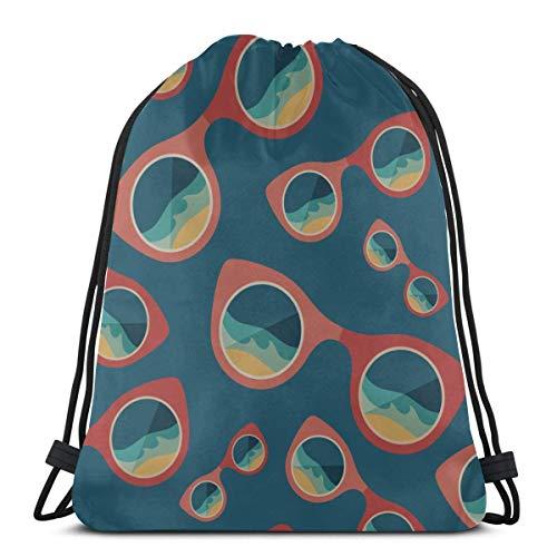 AEMAPE Schöne Sommer Runde Sonnenbrille Camping String Rucksack Gym Bag Kordelzug Tasche Für Gym Outdoor Travel