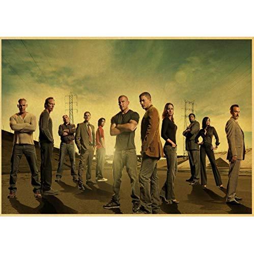Prison Break Wentworth Miller Dominic Purcell Plakate Und Drucke Kunst Leinwand Malerei Wandbilder Home Decoration 50X70Cm No Frame