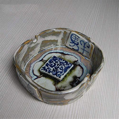 Giow Azulejos Rotos Azules y Blancos Antiguos diseño Personalidad Adornos Decorativos de cerámica Simples