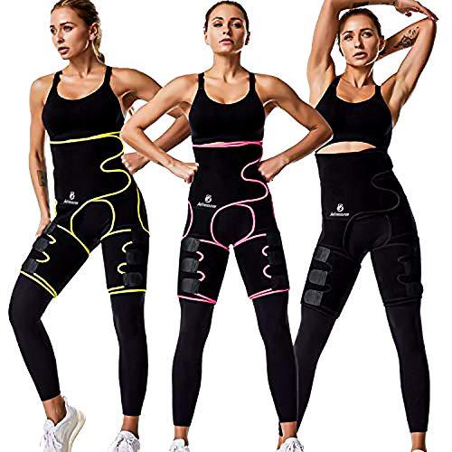 3 in 1 Best Sweat Waist Trainer Butt Lifter Women Neoprene Waist Trimmer Belt high Waist and Thigh Trimmer