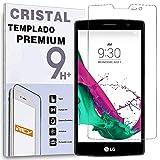 REY Protector de Pantalla para LG G4C / G4 Mini, Cristal Vidrio Templado Premium