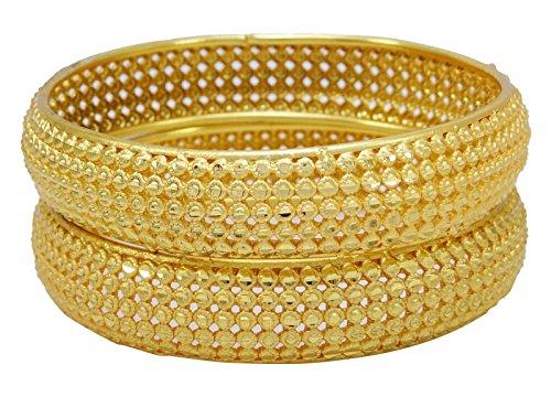 Banithani traditionelle indische vergoldete kada Armreif-Set Hochzeit Armband jewellry 2 * 12