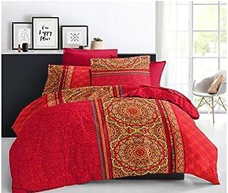 Pack Complet 6 pièces Housse de Couette 220 x 240 cm pour lit 160 x 200 cm 100% Coton / 57 Fils/cm² (Manda Baya, Pack 6 pi...