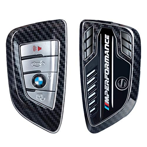 BMW Car Key Fob Cover, The Design was Inspired by the BMW Engine, Compatible with BMW 1 2 5 7 Series and X1 X3 X5 X6 X7 Series