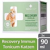 RECOACTIV Recovery Immun für Katzen 3 x 90 ml - Hochkalorisches Diät Alleinfuttermittel, in der Rekonvaleszenz und nach OPs, für Gewichtszunahme sowie bei Nahrungsverweigerung