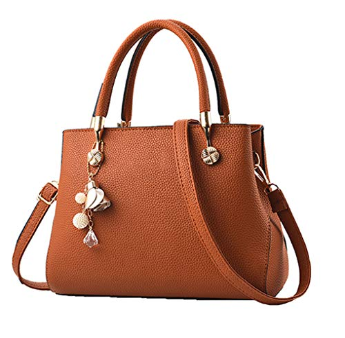 """Material: High quality PU leather with polyester lining , fashionable and durable. Dimensions : 11.1""""(L) * 5.1""""(W) * 8.3""""(H), height of handle:5.1"""", suitable for you to carry it in daily-use. Structure: Two main compartments, a middle zipper pocket, ..."""