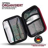 Erste Hilfe Set Wandern, Outdoor, Fahrrad & Reise Zubehör für die Erstversorgung der häufigsten Notfälle nach DIN 13167 - First Aid Kit für Ihre Sicherheit - 4