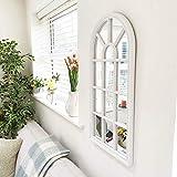 Cherish Home Velit - Espejo de pared para ventana, color blanco
